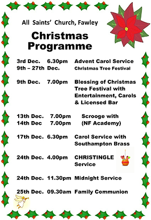 Fawley Christmas Programme 2017