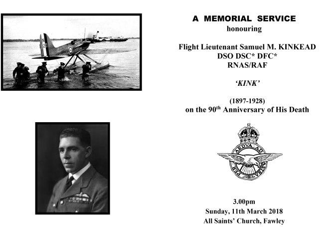 Memorial Service for Samuel Kinkead