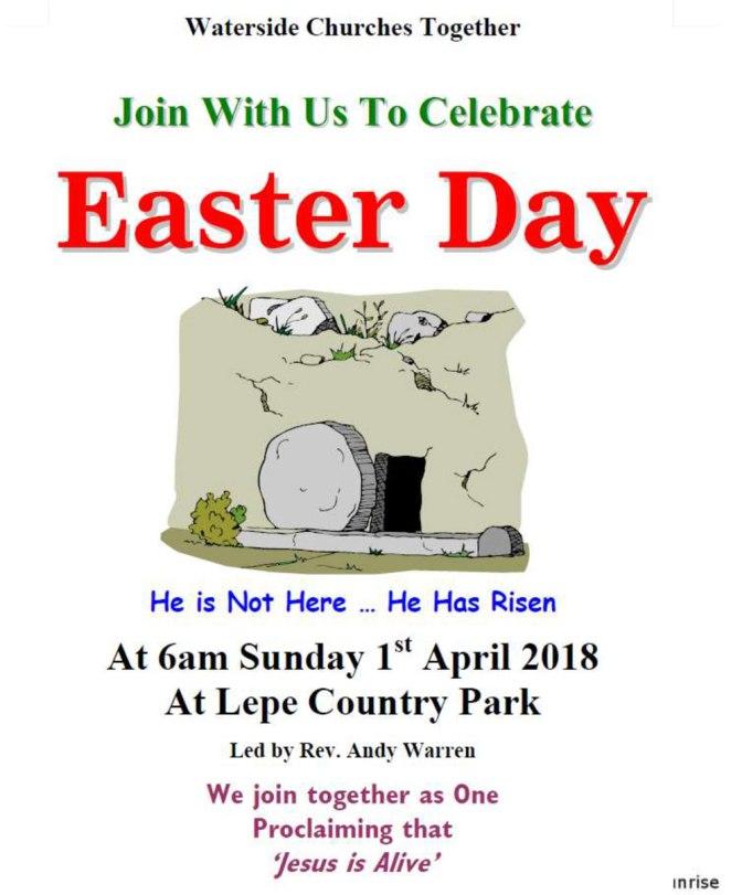 Easter Sunday Sunrise Service at Lepe