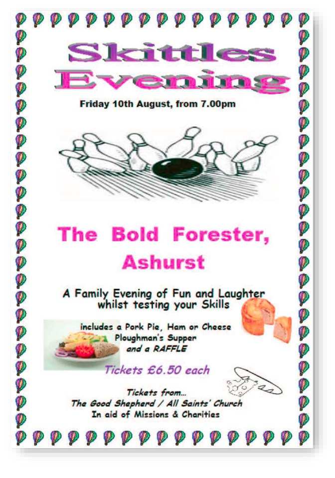 Skittles Evening at The Bold Forester Friday 10th of August