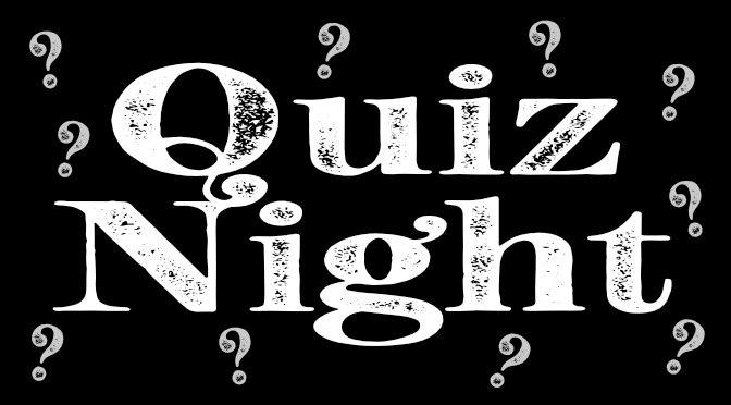 Quiz Night at Jubilee Hall Friday 27th September