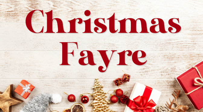 Christmas Fayre At The Good Shepherd Saturday 23rd Nov. 10am Until 12 Noon